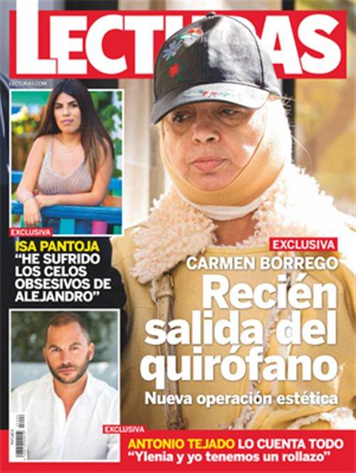 Carmen Borrego recién salida del quirófano